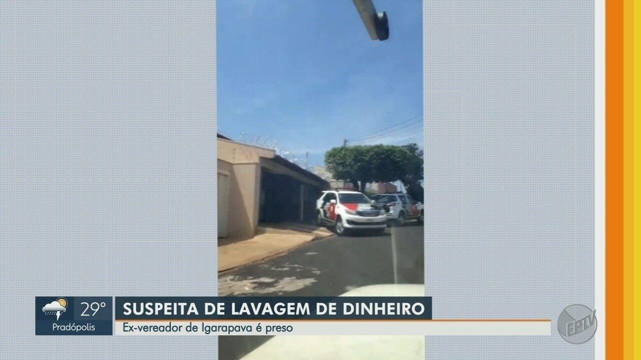 Operação Ágio prende ex-vereador por suspeita de lavagem de dinheiro em Igarapava, SP
