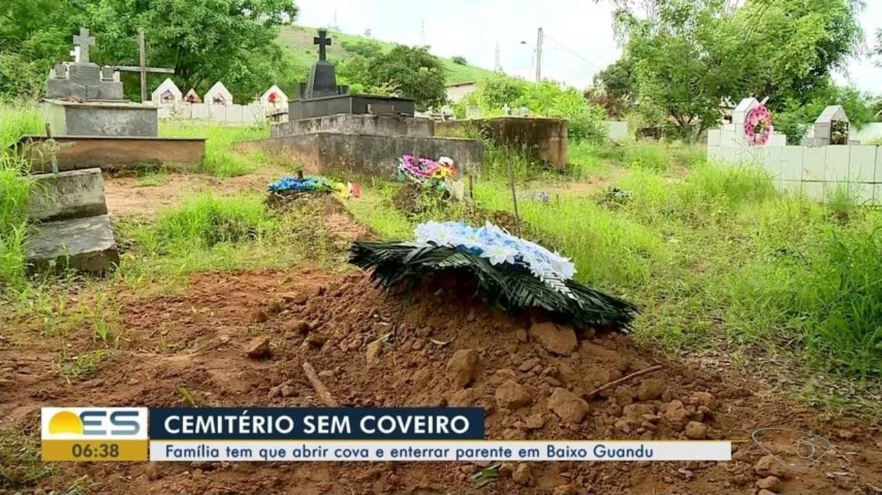 Com cemitério sem coveiro, família tem que abrir cova e enterrar parente em Baixo Guandu