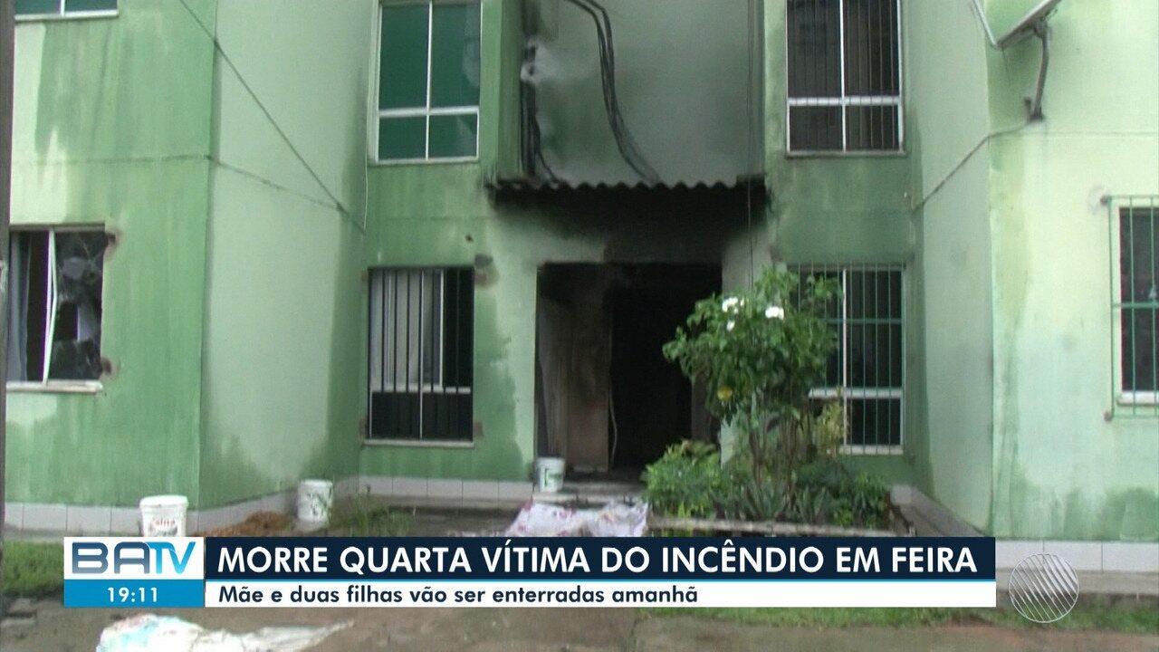 Morre a quarta vítima do incêndio em um apartamento em Feira de Santana