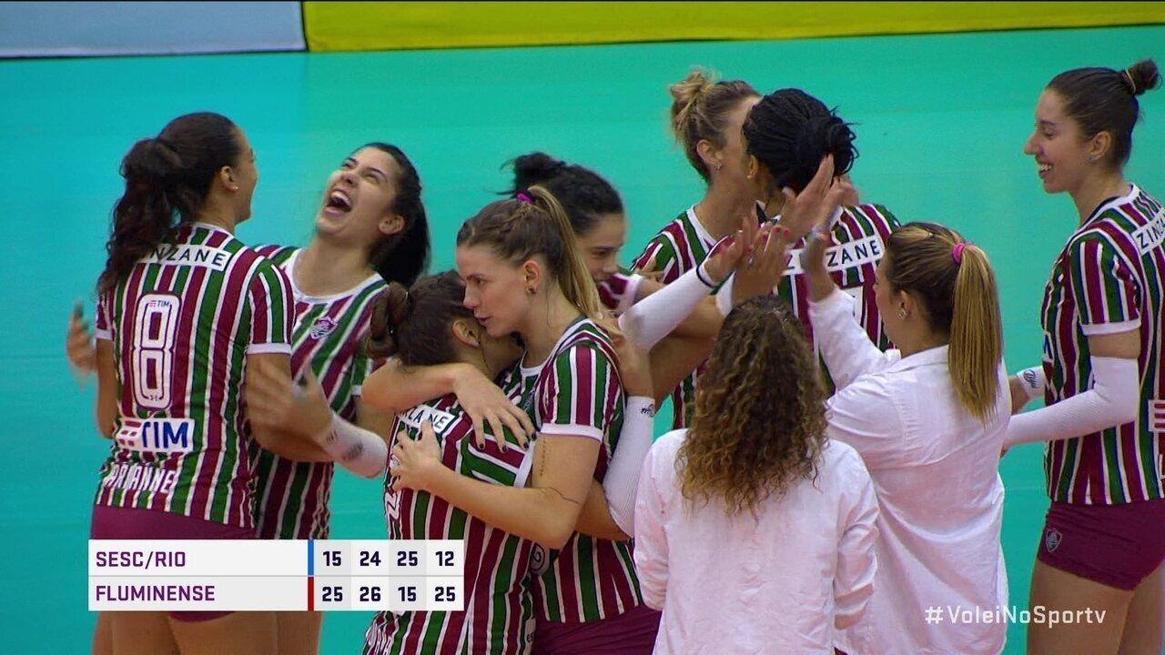Pontos finais: Sesc/Rio 1 x 3 Fluminense pela Superliga Feminina de Vôlei