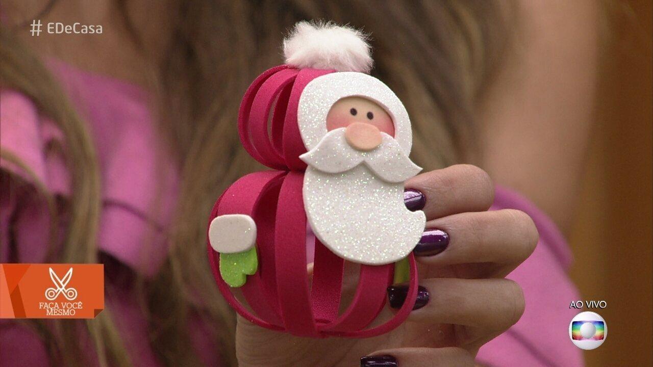 Aprenda a fazer enfeite de natal com E.V.A