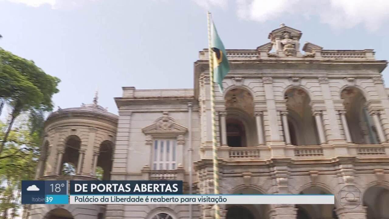 Palácio da Liberdade é reaberto para visitação pública