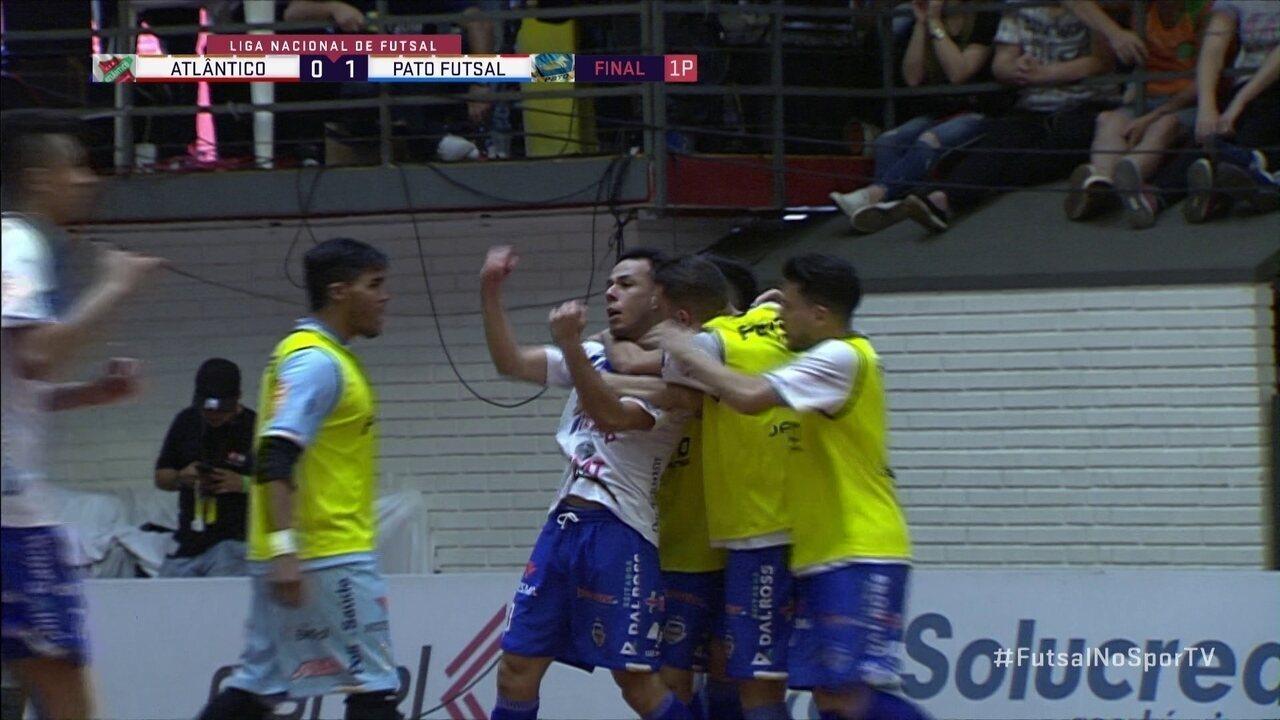 Melhores momentos: Atlântico 4 (1) x (2) 2 Pato pela final da Liga Nacional de Futsal