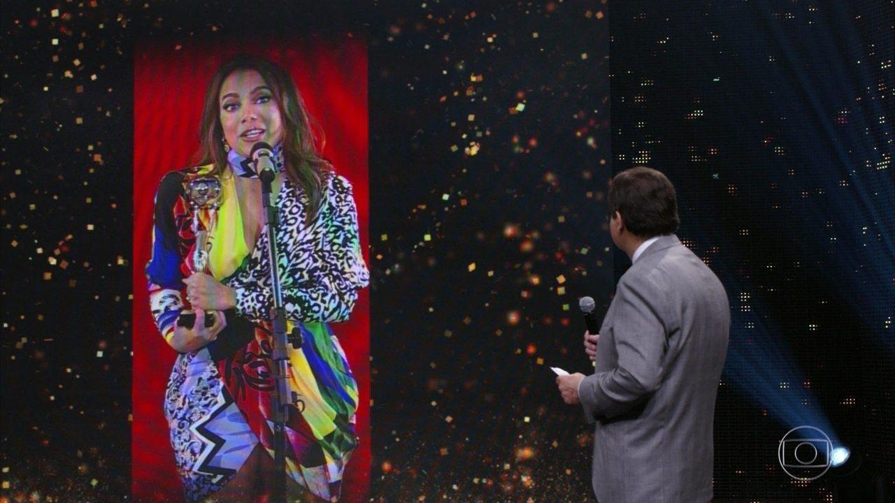 Anitta vence a categoria 'Cantora do Ano'