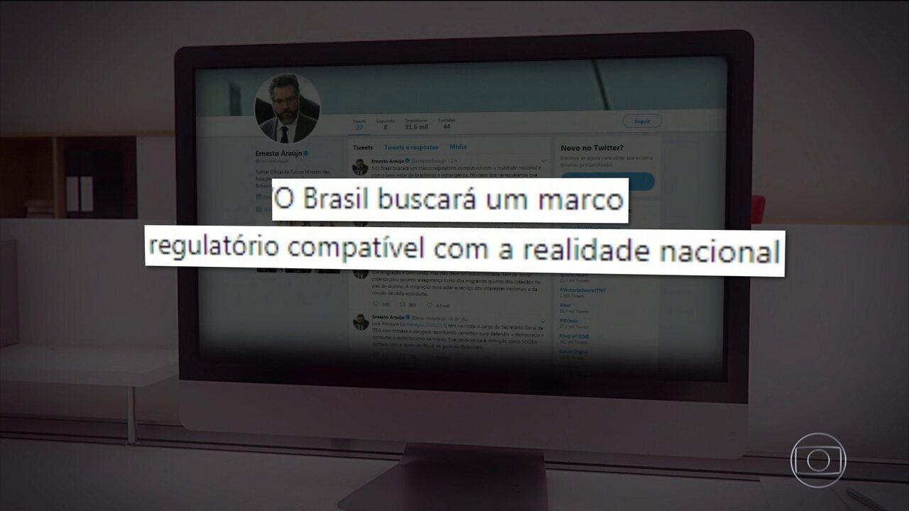 Brasil vai sair de pacto migratório, diz futuro ministro das Relações Exteriores