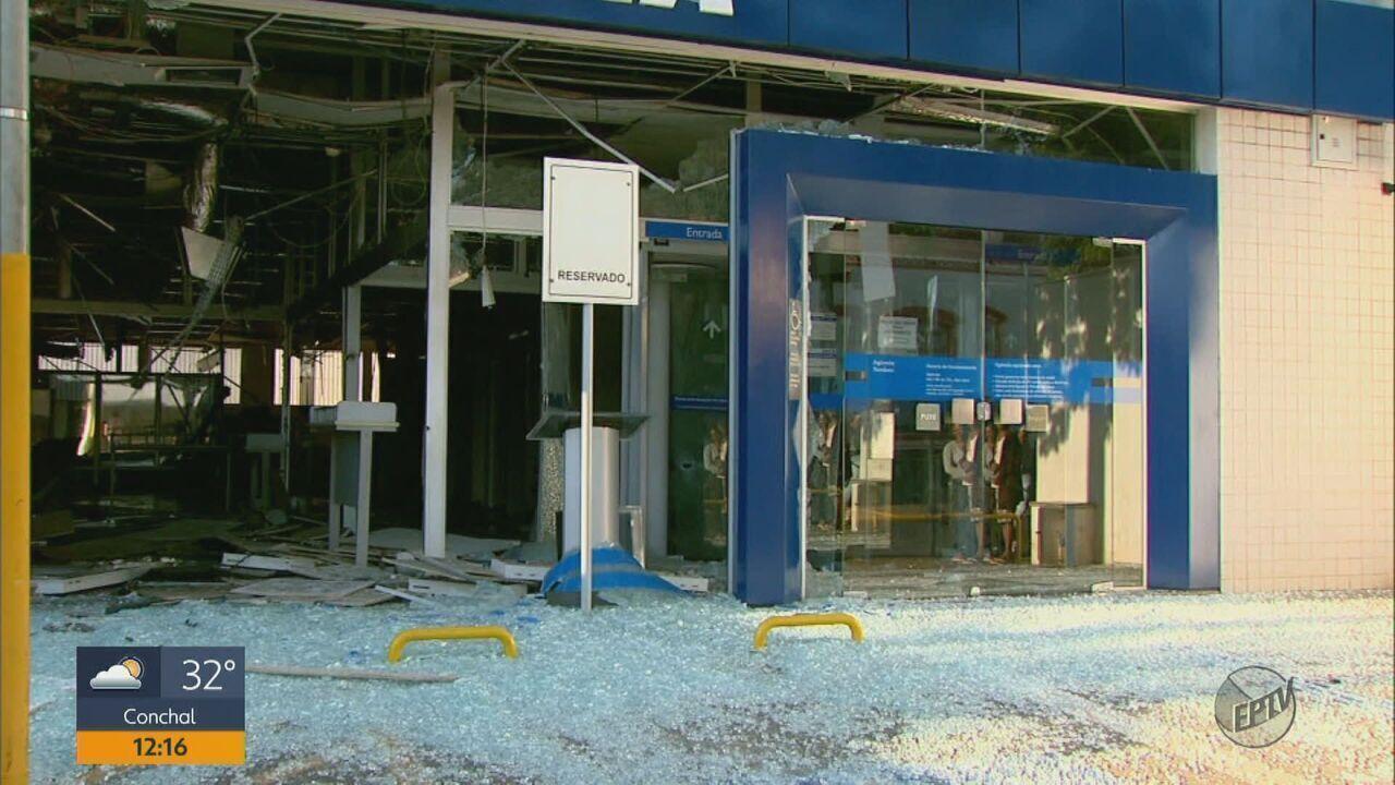 Criminosos explodem três agências bancárias durante tentativa de furto em Tambaú
