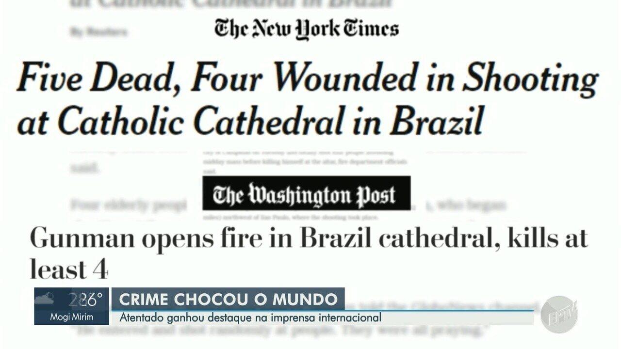 Tiroteio na Catedral Metropolitana de Campinas repercute na imprensa internacional