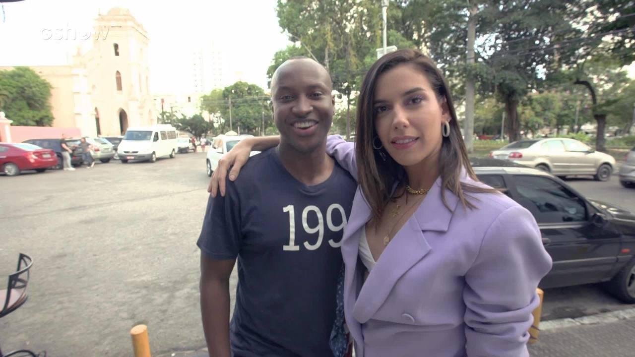Camila Coutinho conversa com Thiaguinho antes do Show Da Virada