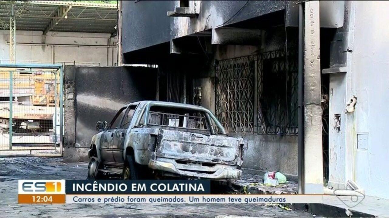 Polícia Civil e Corpo de Bombeiros investigam causas de incêndio em Colatina, ES