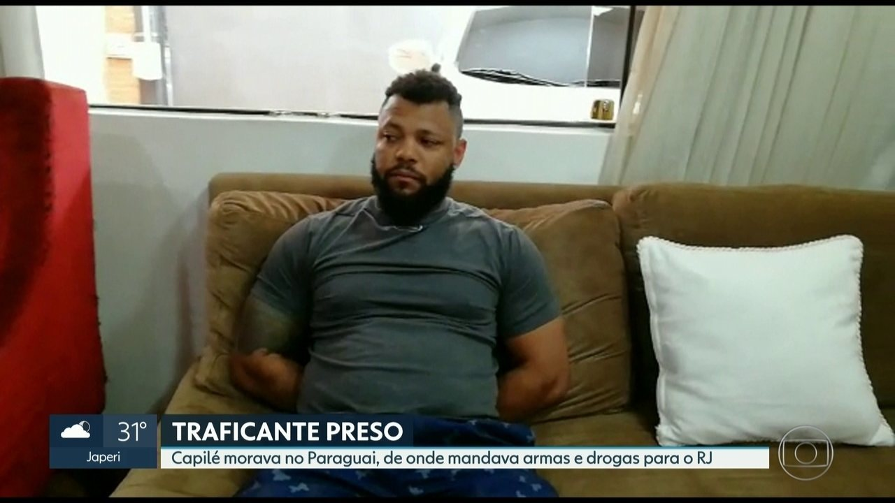 Traficante Capilé é preso no Paraguai em operação da delegacia da Pavuna