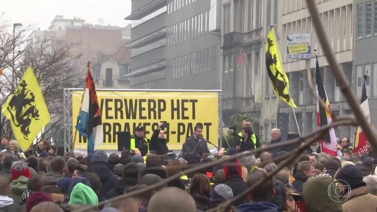 Domingo tem manifestações contra e a favor de pacto para proteção de imigrantes