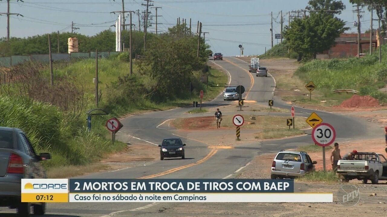 Troca de tiros termina com dois suspeitos mortos em Campinas