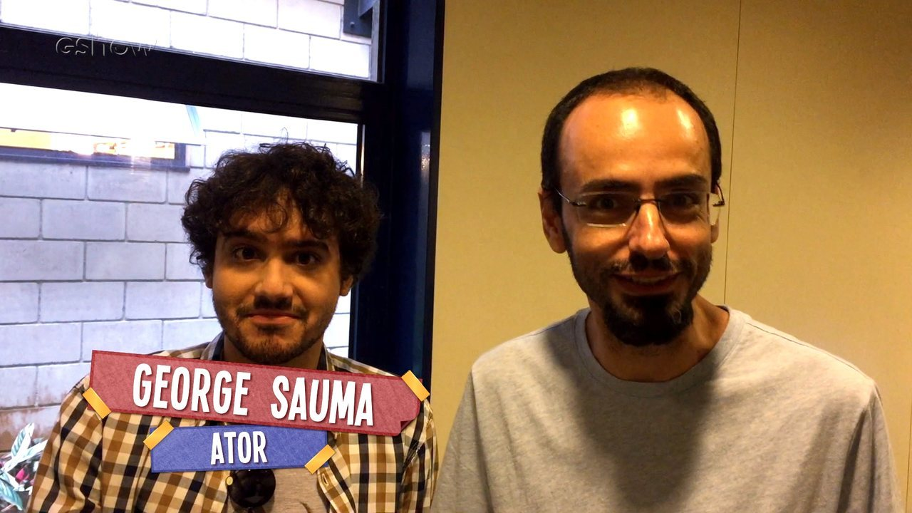 George Sauma participa do quadro 'Idade dos Famosos' com o roteirista Ricardo VR