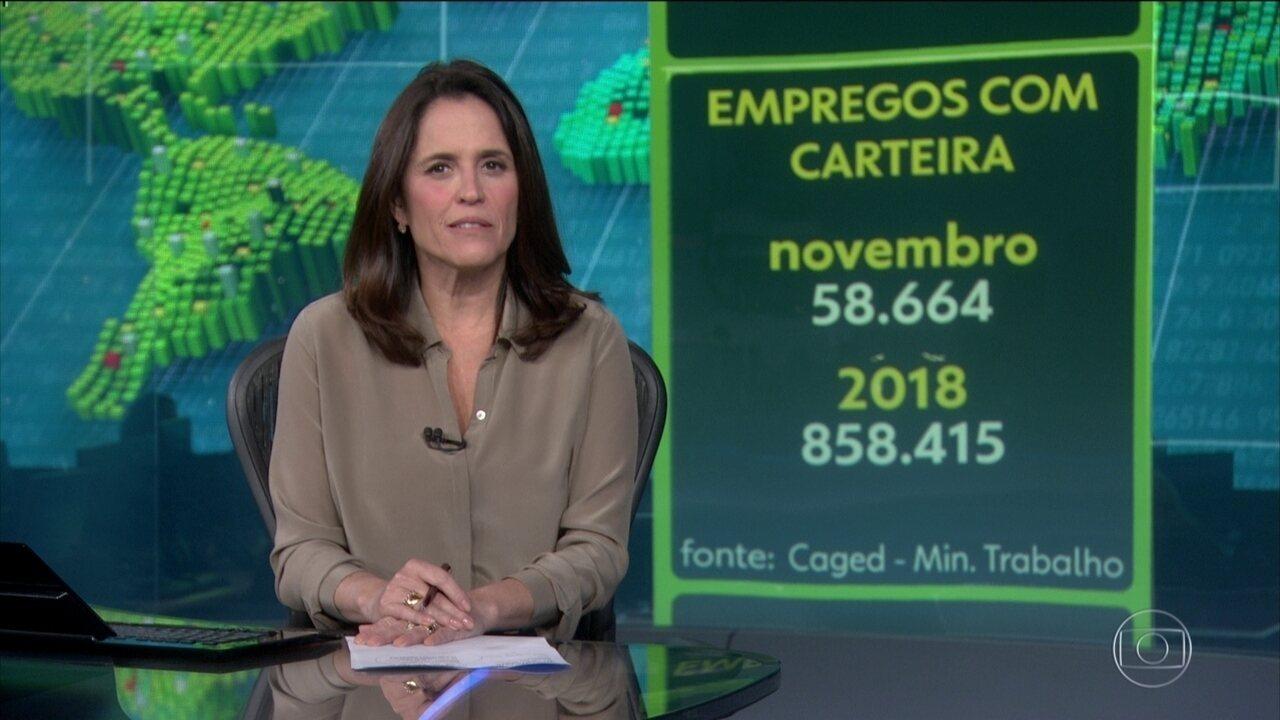 Brasil cria 58.664 empregos com carteira assinada, em novembro
