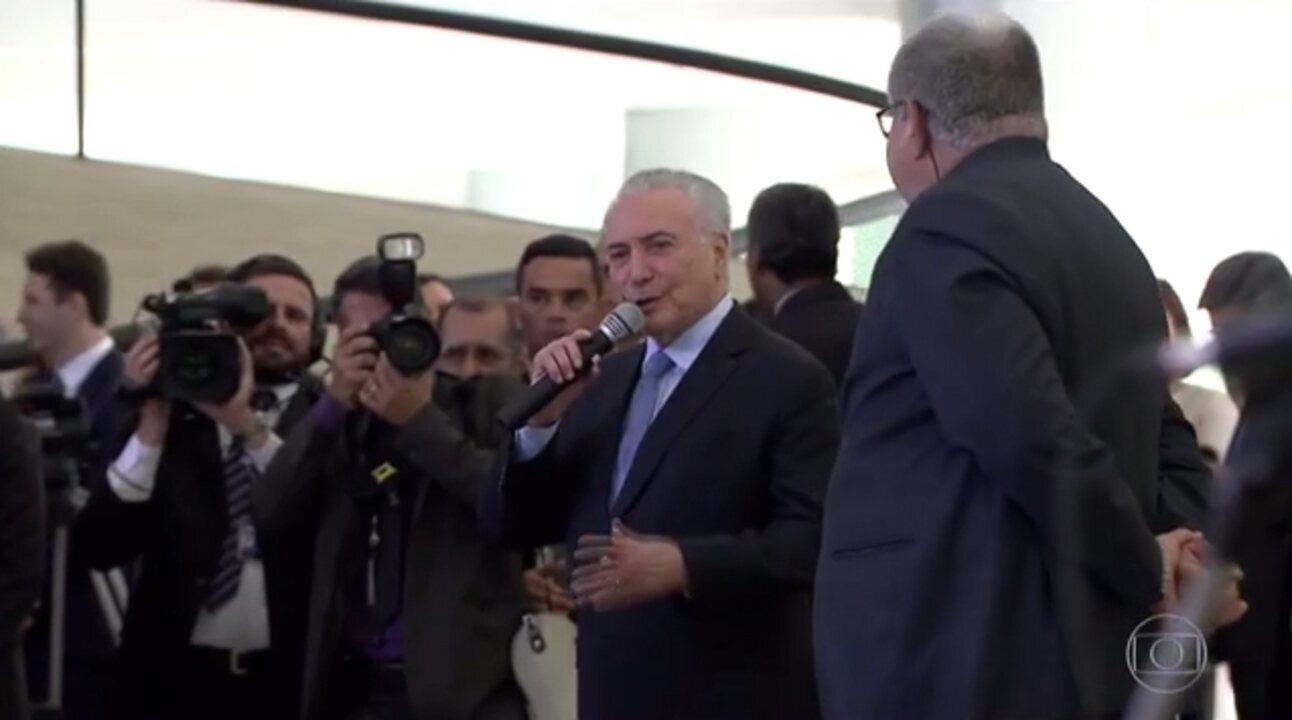 Presidente Temer se defende de denúncia no inquérito dos portos