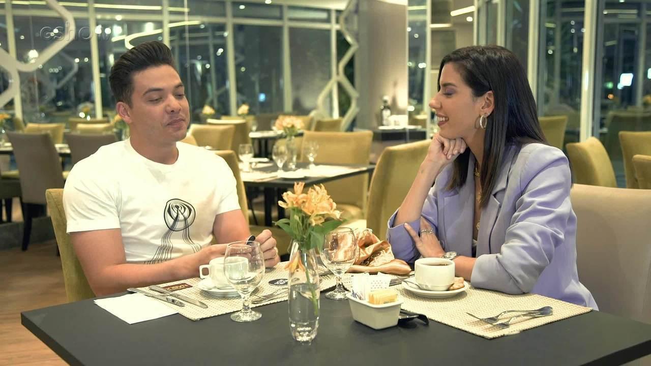 Camila Coutinho conversa com Wesley Safadão antes do 'Show da Virada'