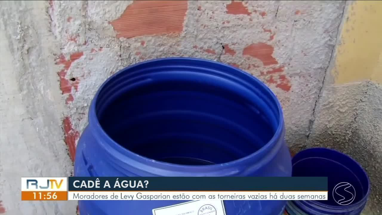 Moradores estão há mais de dez dias sem água no bairro Fonseca Lima, em Levy Gasparian