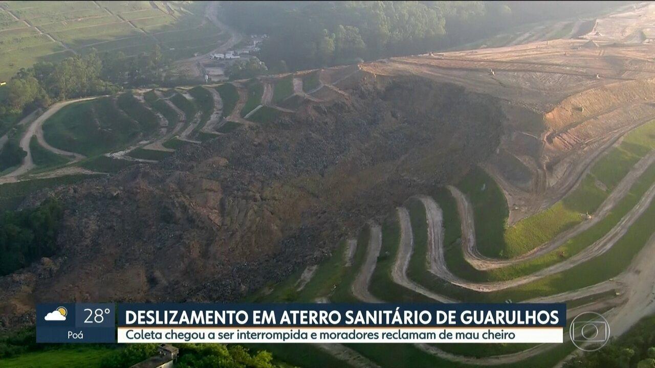 Prefeitura de Guarulhos decreta situação de emergência após deslizamento em aterro