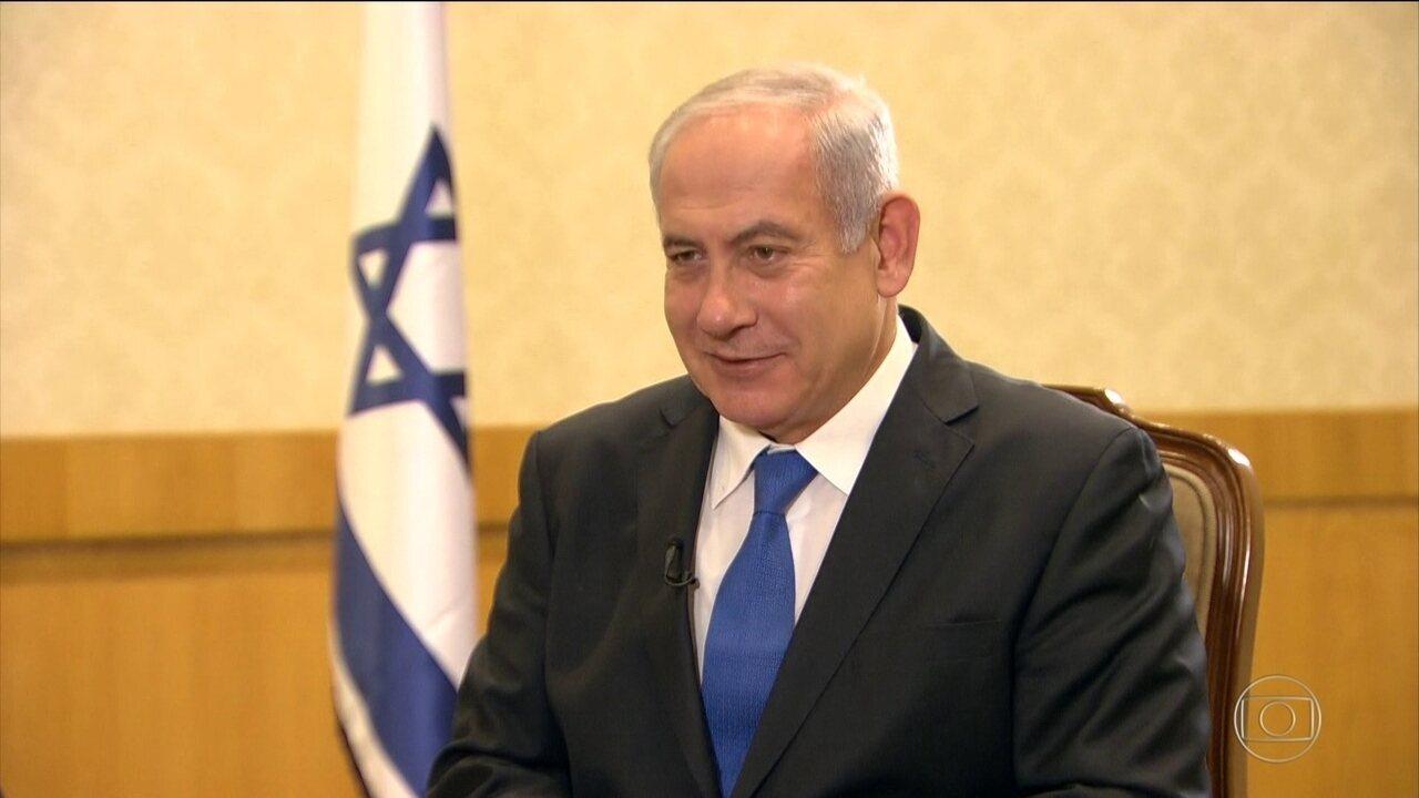 Benjamin Netanyahu fala sobre planos de aproximação com o governo de Bolsonaro