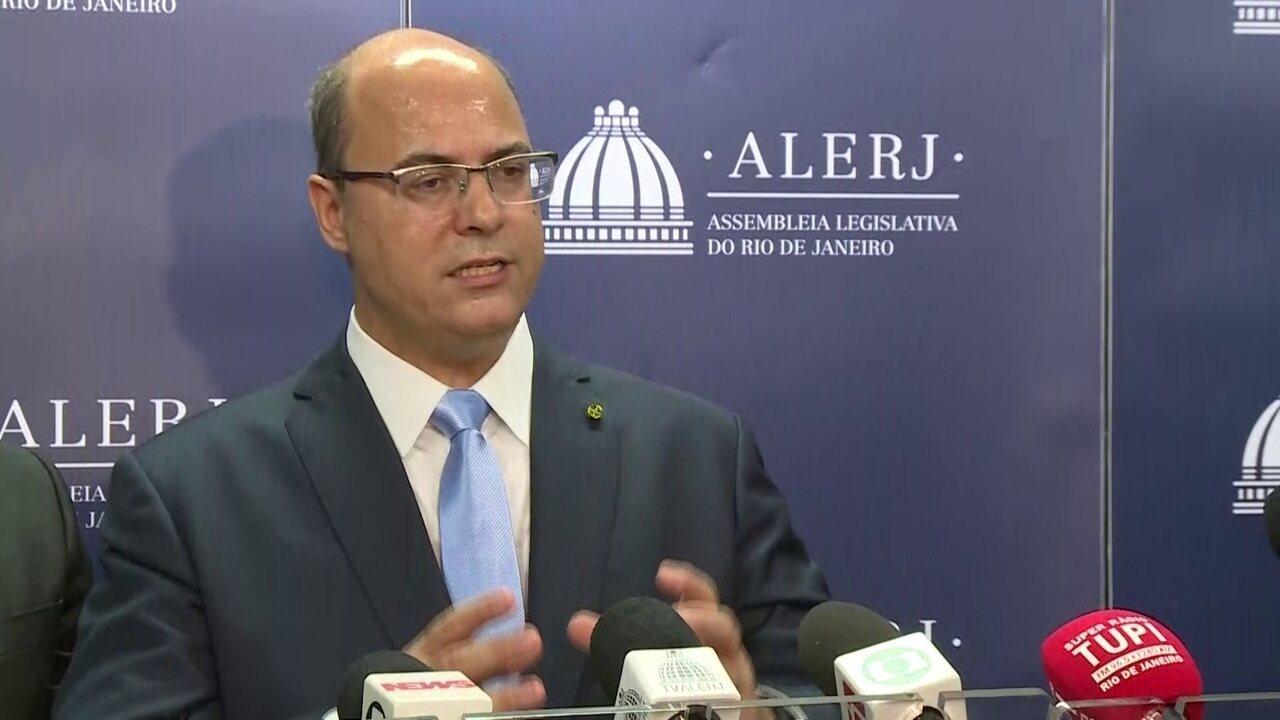 Governador Wilson Witzel fala sobre ações após posse