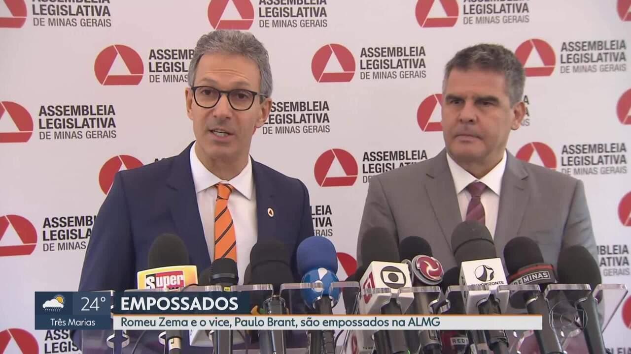 Romeu Zema (Novo) toma posse e assume o governo de Minas