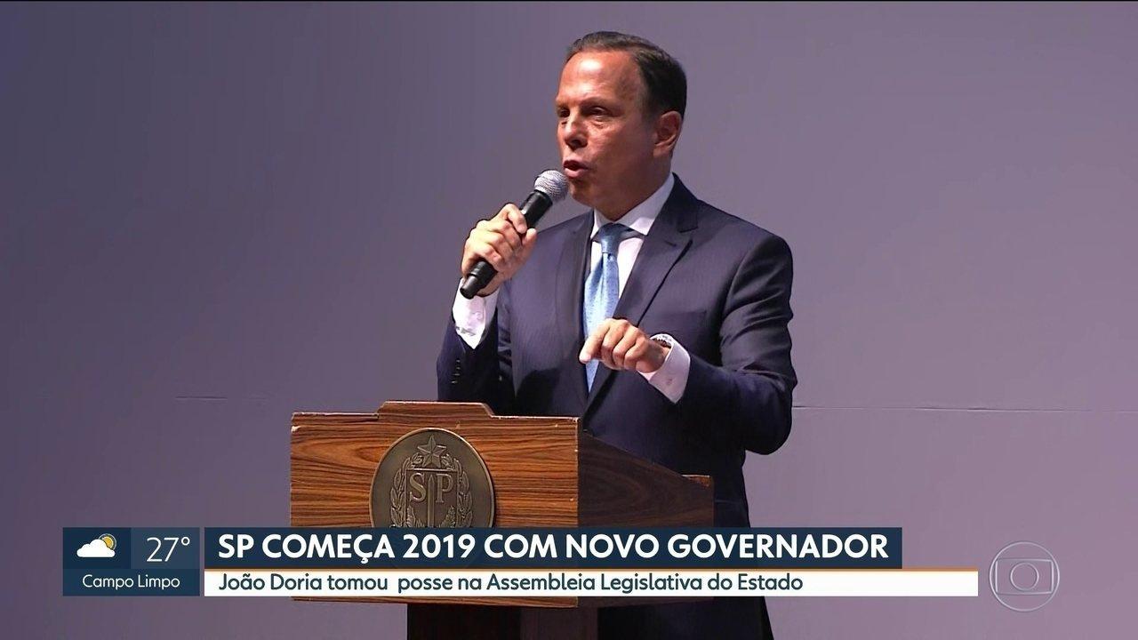 João Doria toma posse na Assembleia Legislativa de SP