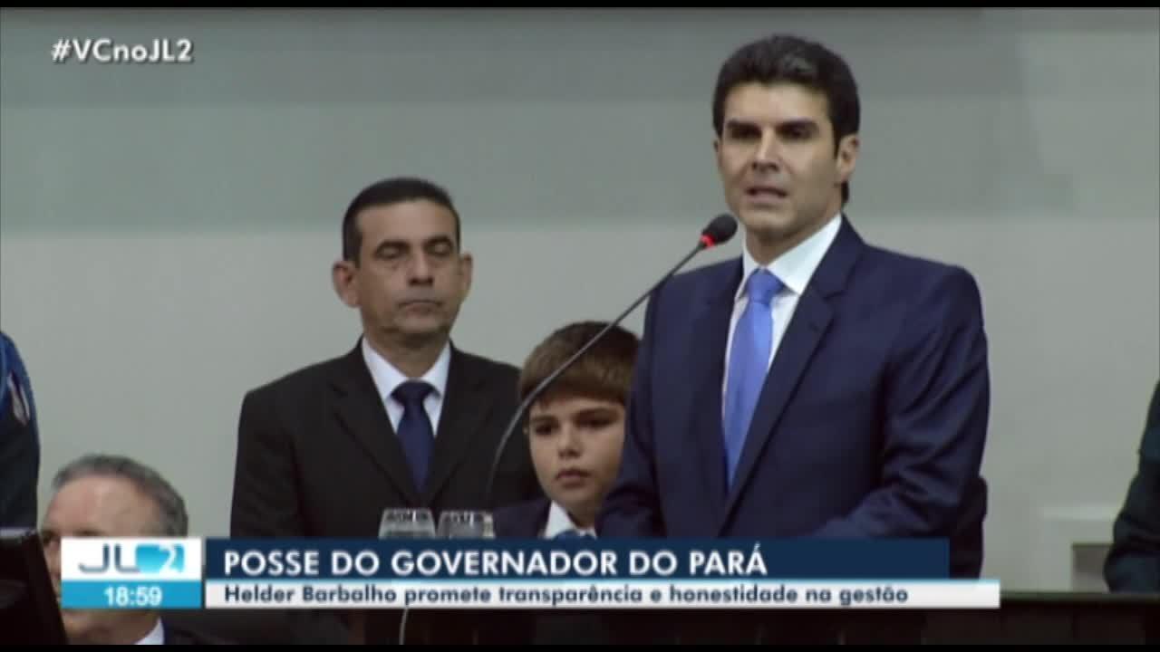 Helder Barbalho assume, oficialmente, o governo do Pará em cerimônias em Belém