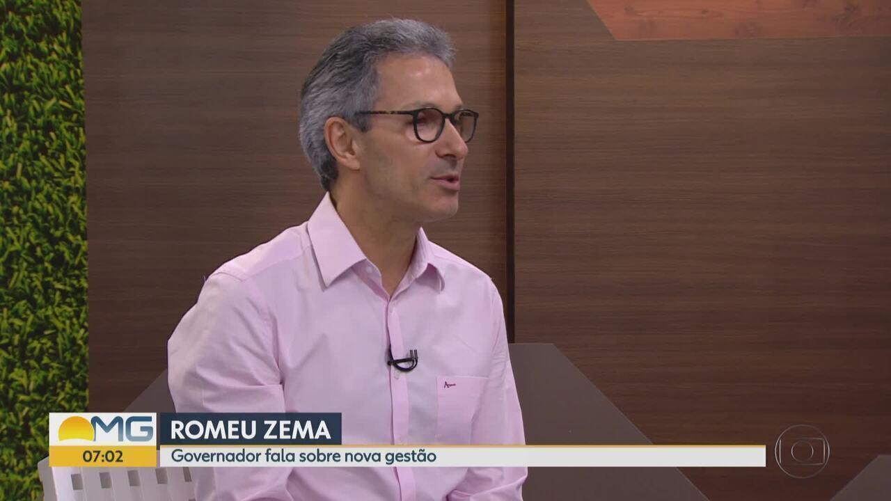 Governador de Minas Gerais, Romeu Zema fala sobre nova gestão