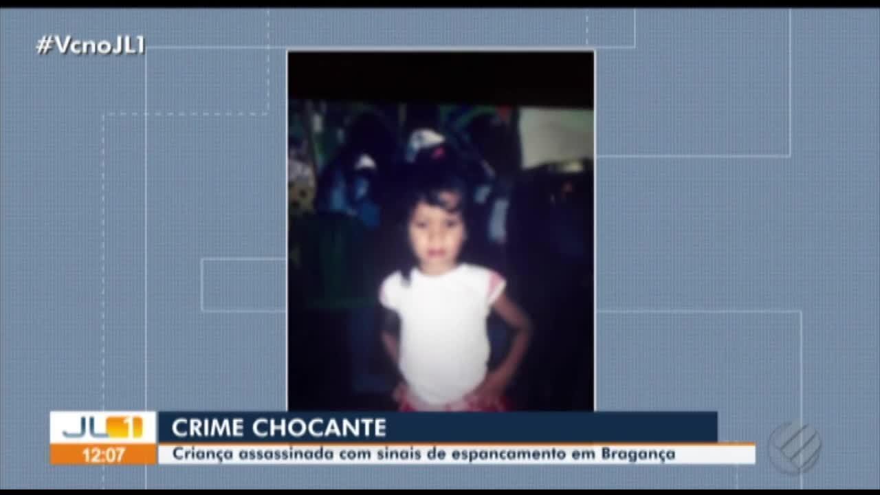 Menina de 3 anos é assassinada em Bragança, no Pará
