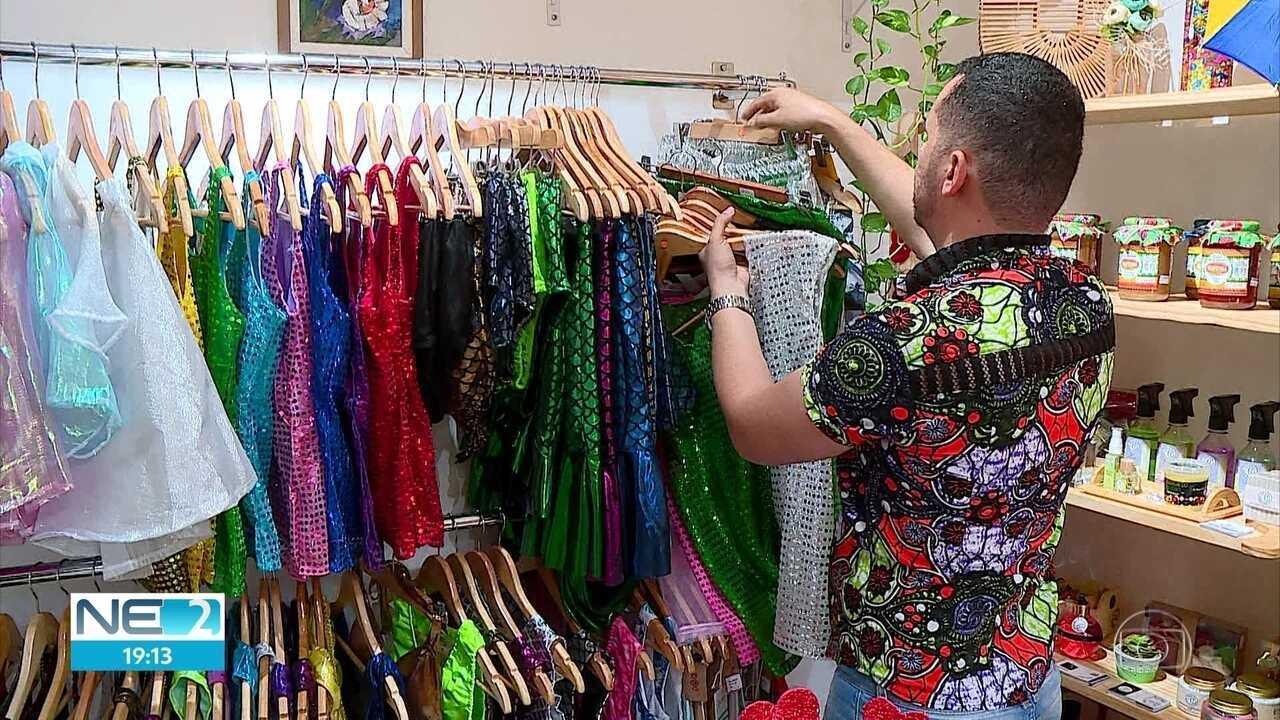 Espaço colaborativo no Recife oferece produtos para o carnaval de 72 lojas