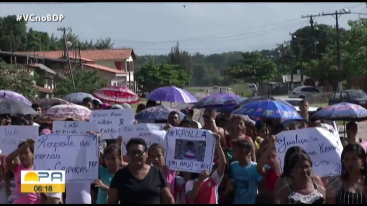 Corpo de criança de 3 anos que foi estuprada e morta em Bragança é sepultado