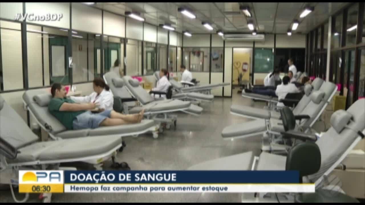 Hemopa faz campanha para aumentar doação de sangue em Belém