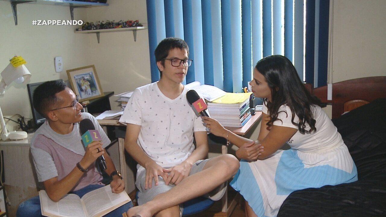 Parte 1: Isa e Dieguinho conversam com estudante de 15 anos que passou para Medicina