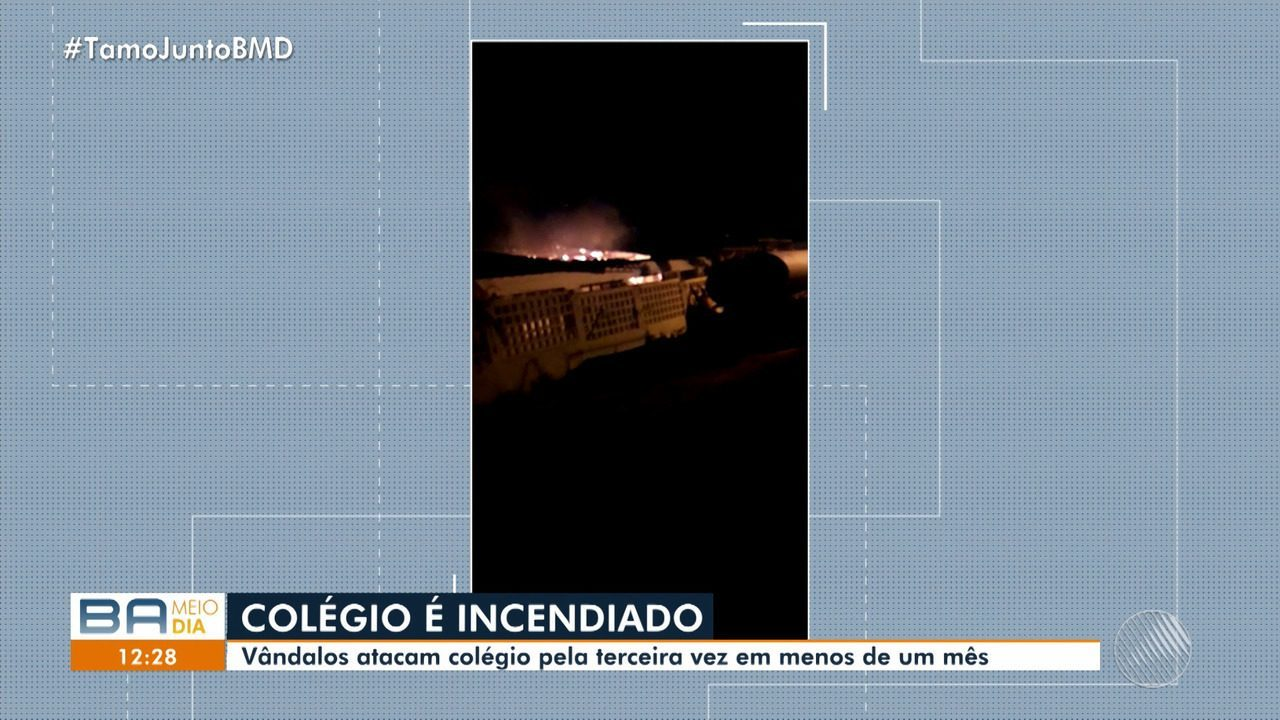 Vândalos atacam colégio pela terceira vez em menos de um mês em Rodelas, no norte da Bahia