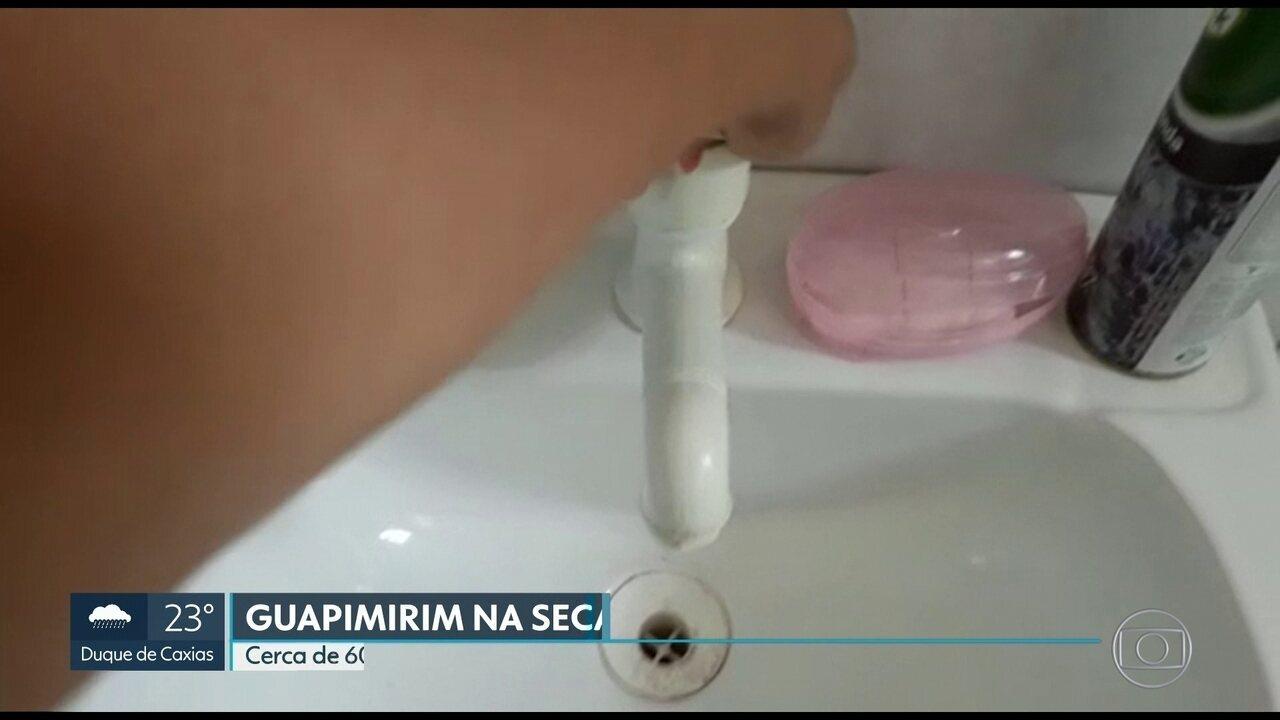 Cerca de 60 mil moradores de Guapimirim estão sem água
