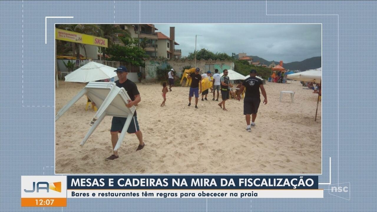 Bares e restaurantes próximos à praias estão sujeitos a fiscalização em SC