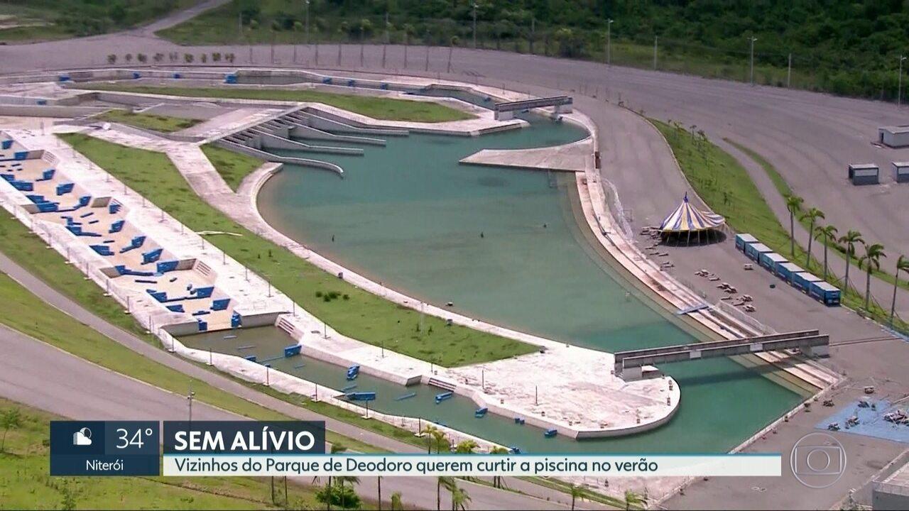 Vizinhos do Parque de Deodoro querem curtir a piscina no verão