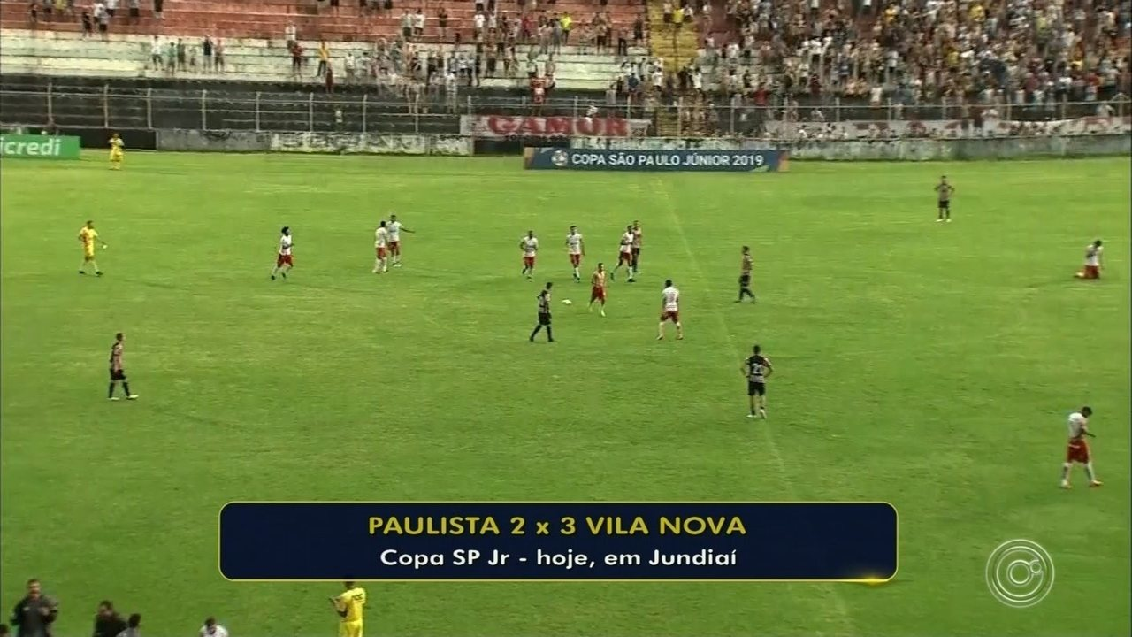 Paulista perde para o Vila Nova e está eliminado da Copinha