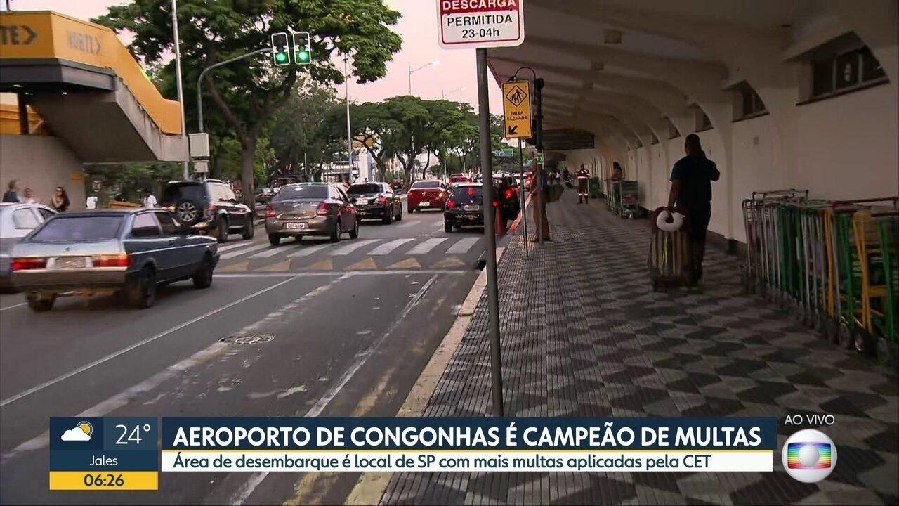 Aeroporto de Congonhas é o lugar campeão de multas da CET na Capital