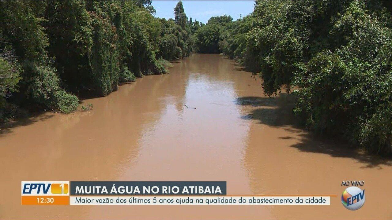 Com as chuvas na região, Rio Atibaia tem a maior vazão em 5 anos