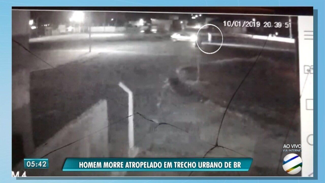 Homem morre atropelado na BR-262, em Campo Grande