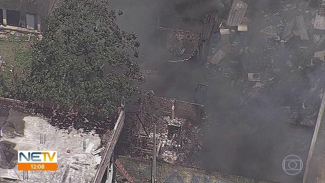 Incêndios atingem apartamento no Recife e ferro velho em Igarassu