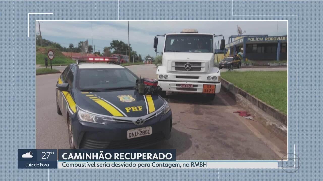 Polícia prende suspeito de roubar caminhão-tanque em Betim