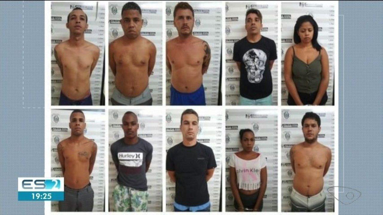 Treze suspeitos de tráfico de drogas são presos em Cachoeiro de Itapemirim, ES