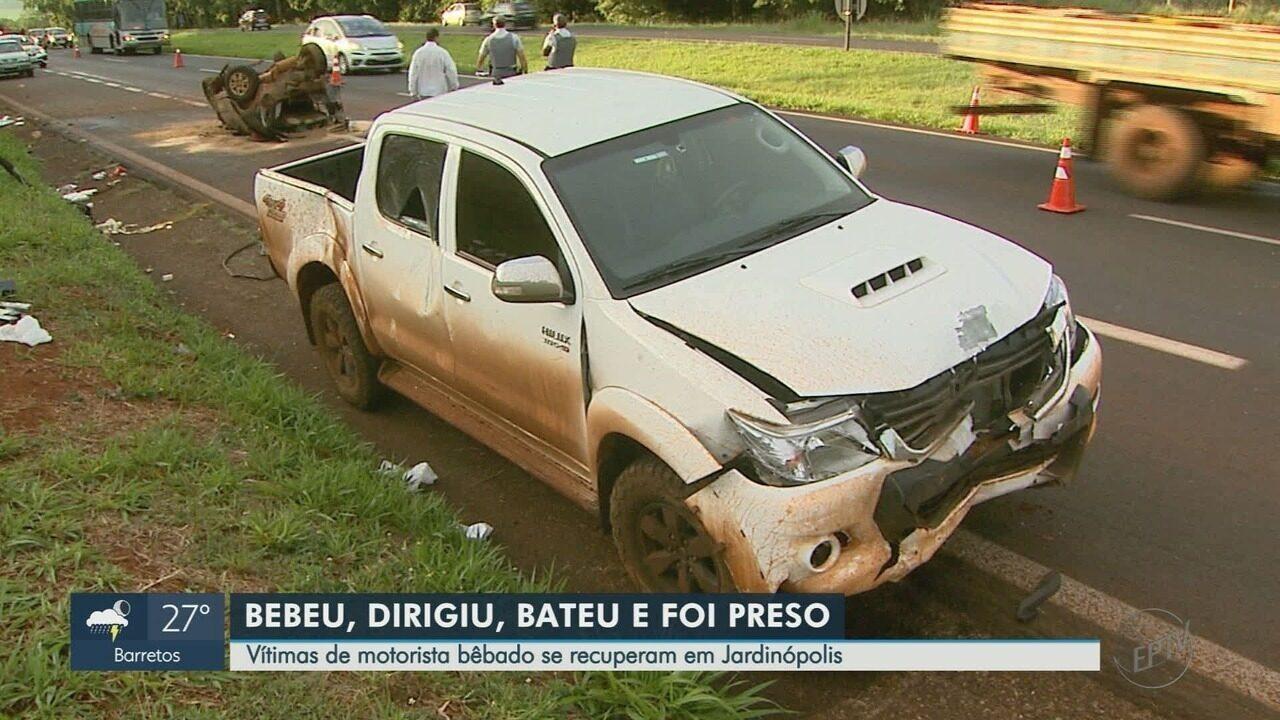 Vítimas de acidente em Jardinópolis (SP) afirmam que motorista estava bêbado