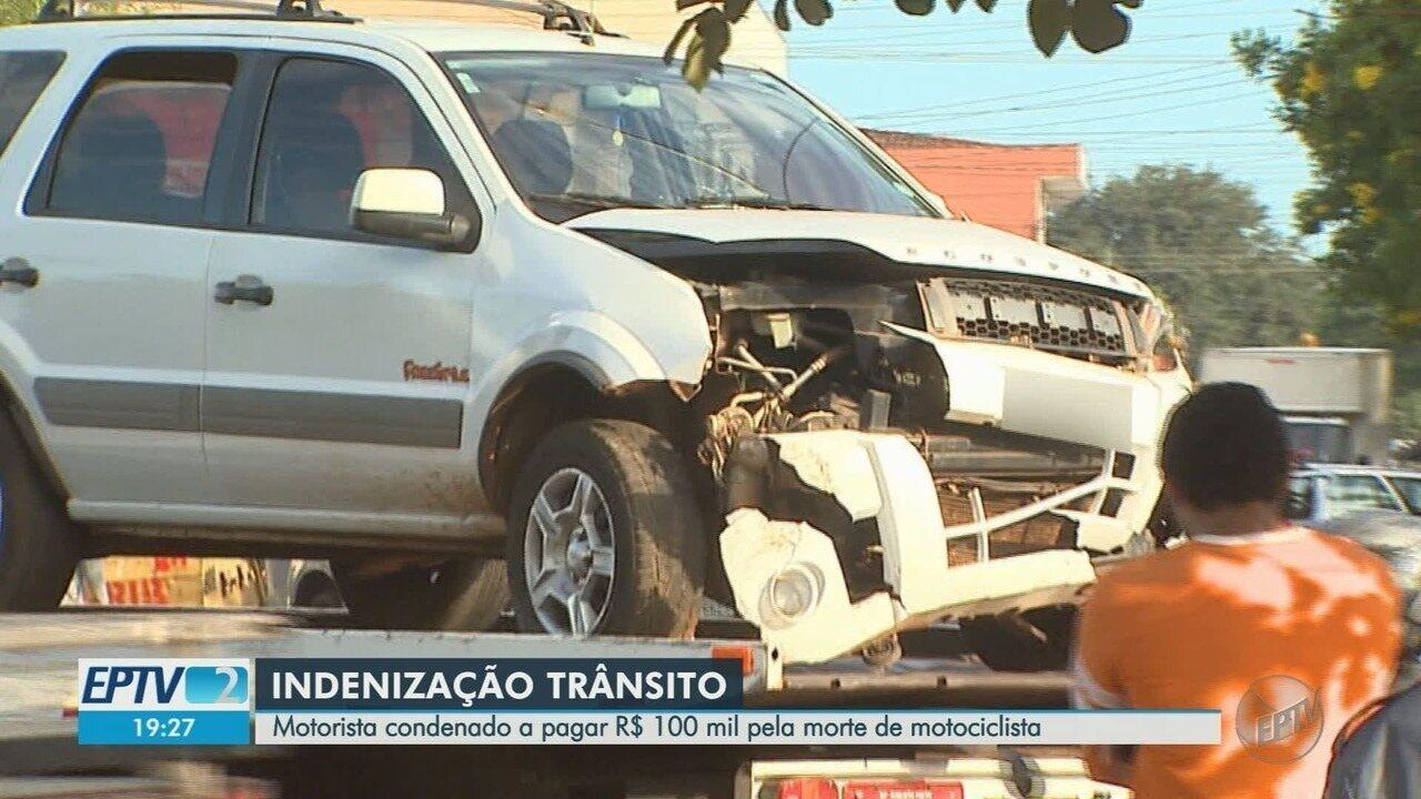 Justiça manda motorista pagar R$ 100 mil à família de motociclista morto atropelado