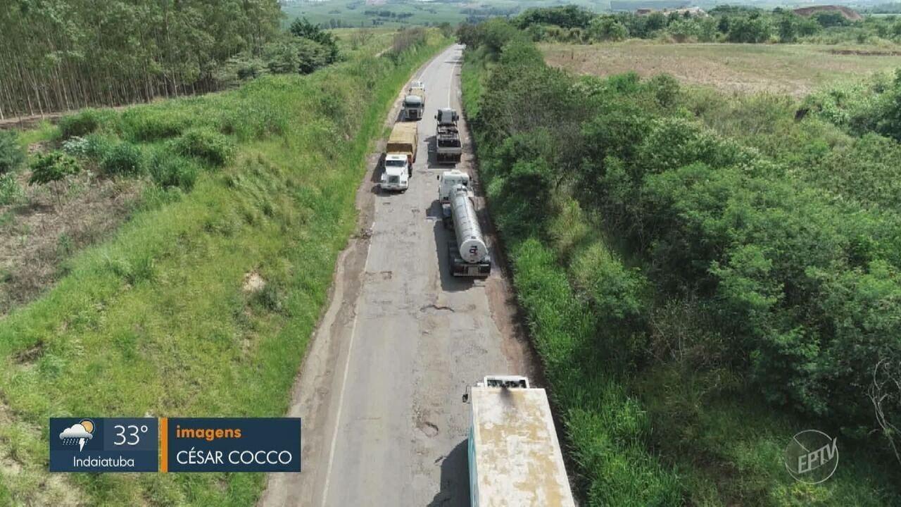 Motoristas reclamam dos buracos na SP-191, entre Charqueada e São Pedro