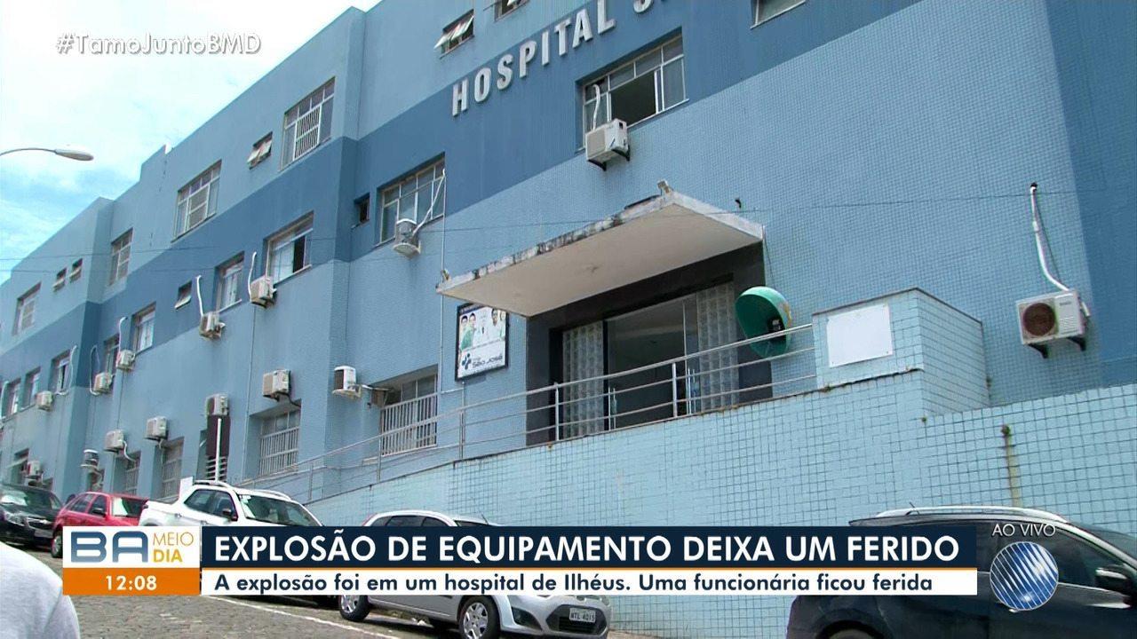 Funcionária fica ferida após equipamento explodir em hospital