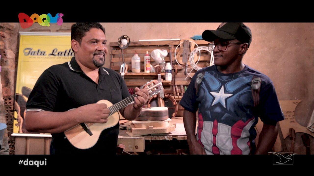 Luthier mostra o seu talento na construção de instrumentos de cordas