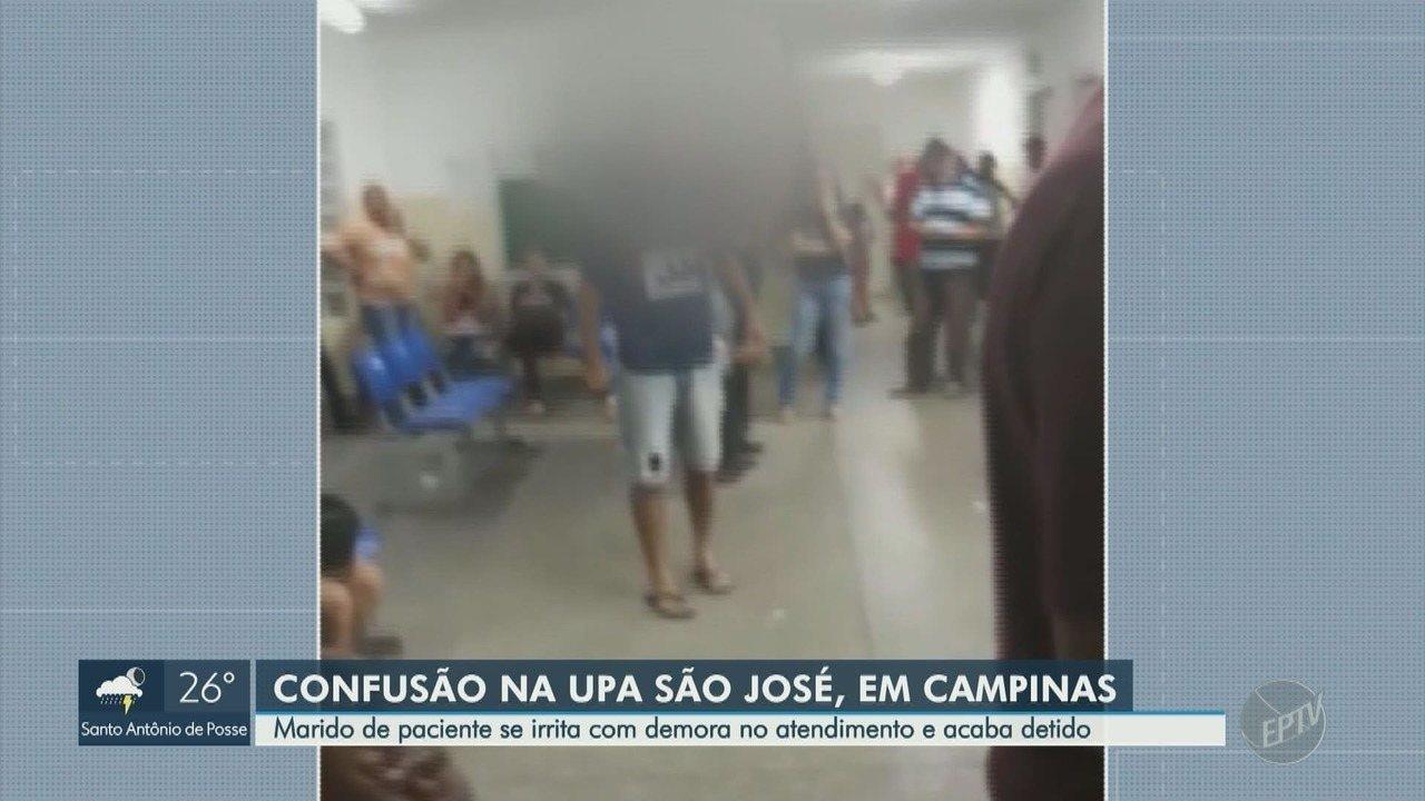 Homem foi detido após confusão na UPA São José, em Campinas